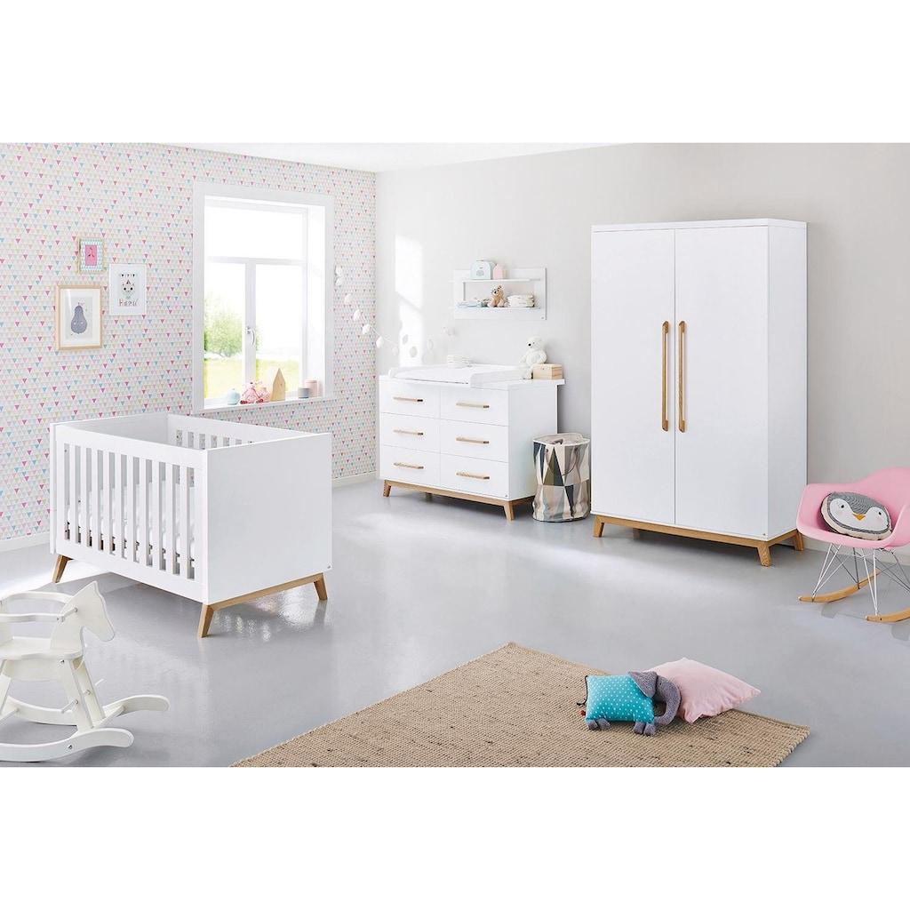 Pinolino® Babyzimmer-Komplettset »Riva«, (Set, 3 St.), extrabreit; mit Kinderbett, Schrank und Wickelkommode