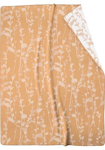 BIEDERLACK Wohndecke »Eucalyptus«, mit Eukalyptusblätter-Dessin kaufen