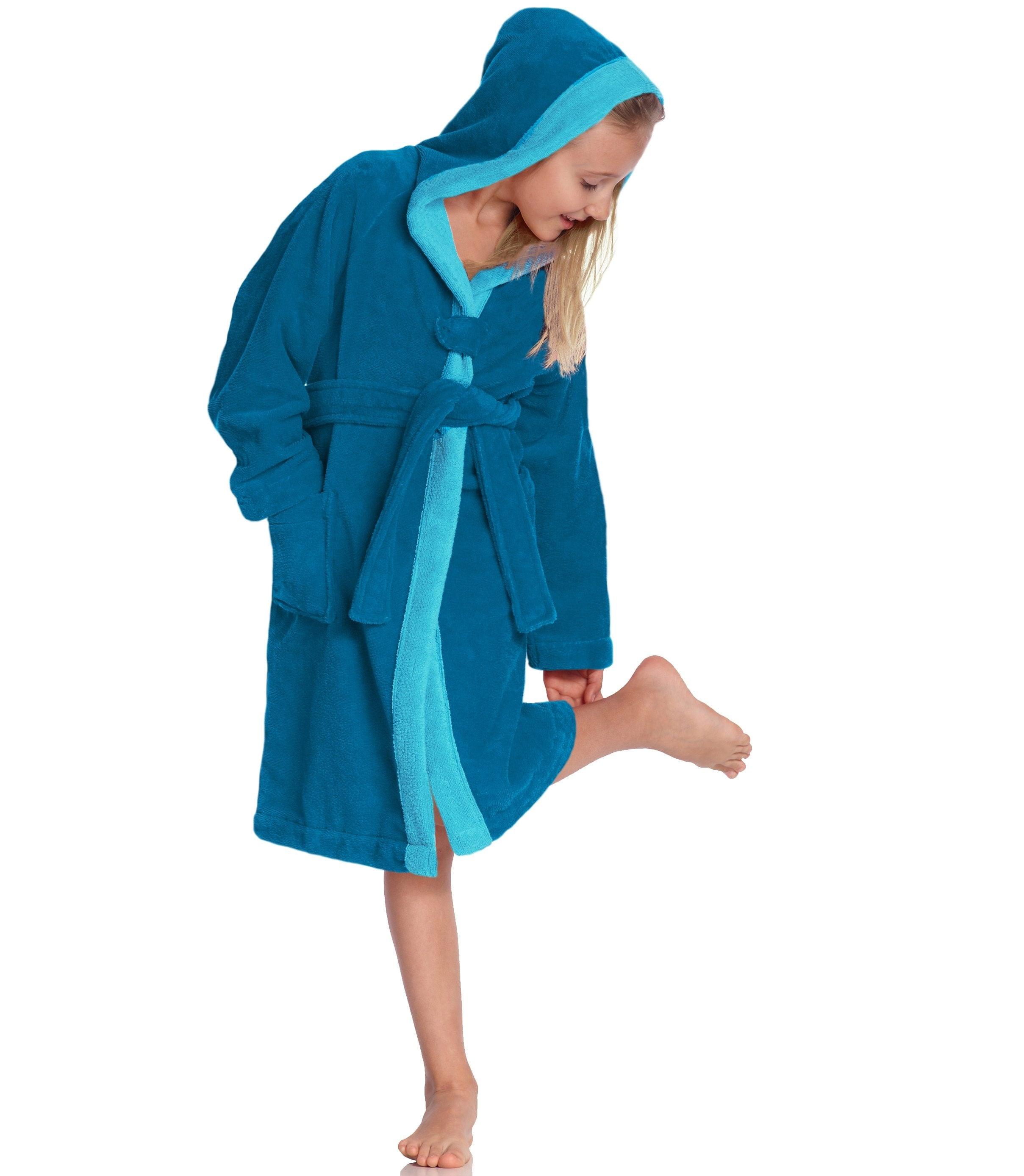 Kinderbademantel »Bixie«, Vossen | Bekleidung > Wäsche > Bademäntel | Blau | Velours | VOSSEN