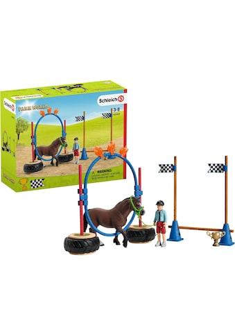 Schleich® Spielfigur »Farm World, Pony Agility Rennen (42482)« kaufen