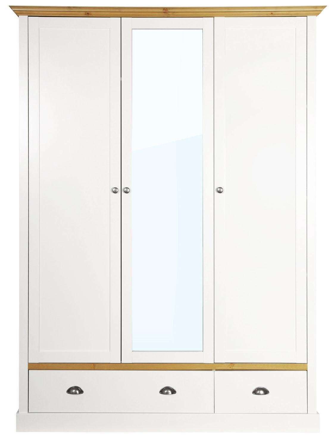 Home affaire Kleiderschrank »Sandringham«, mit 2 Schubladen und 3 Türen, Br günstig online kaufen