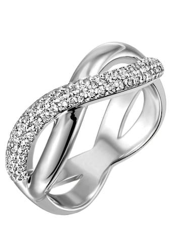 Firetti Silberring »5,6 mm, rhodiniert, massiv« kaufen