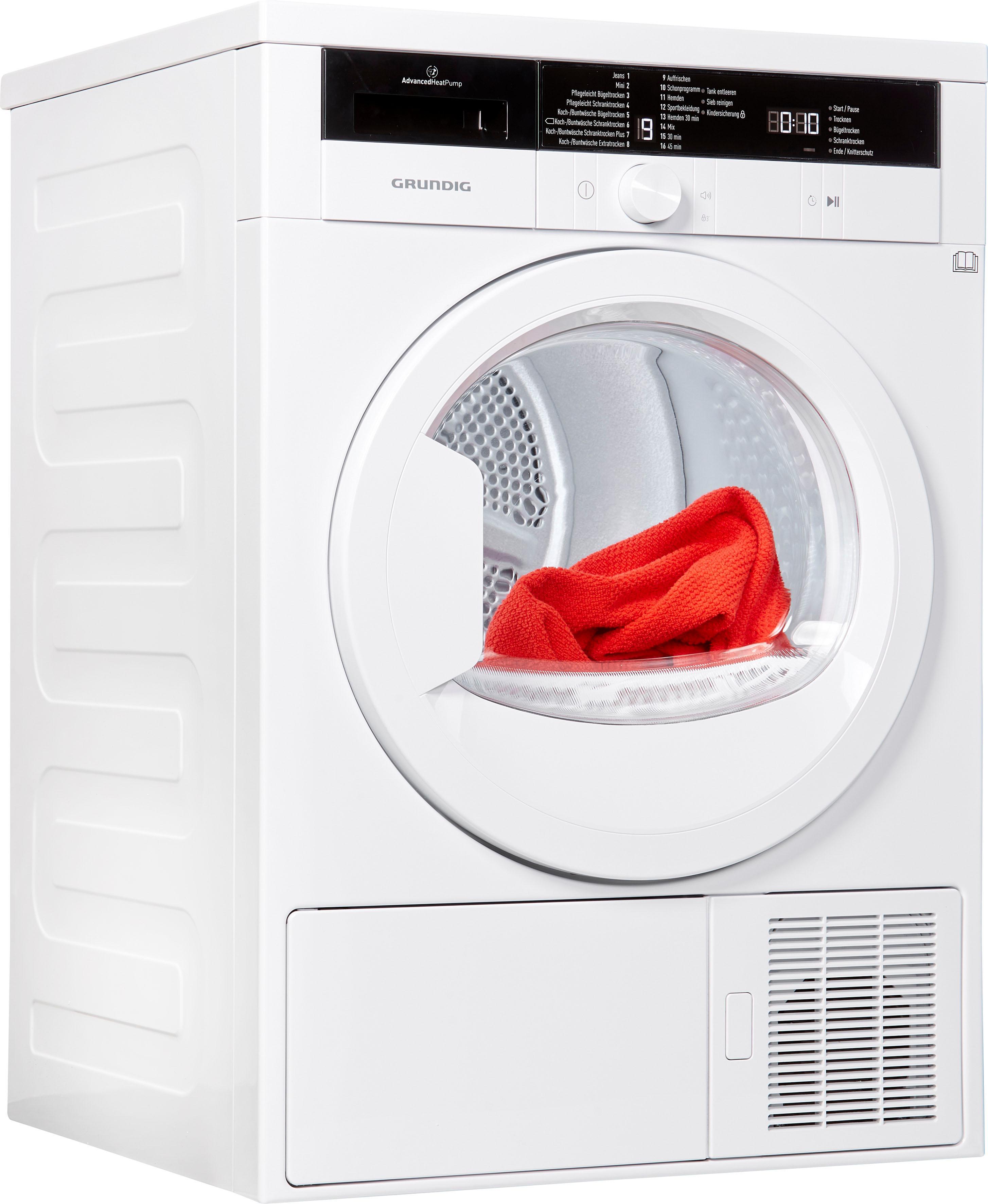 Grundig Wärmepumpentrockner GTN 28250 MG, 8 kg | Bad > Waschmaschinen und Trockner > Wärmepumpentrockner | Grundig