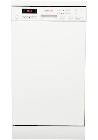 Sharp Standgeschirrspüler, QW-NS22F47EW-DE, 9 Maßgedecke kaufen
