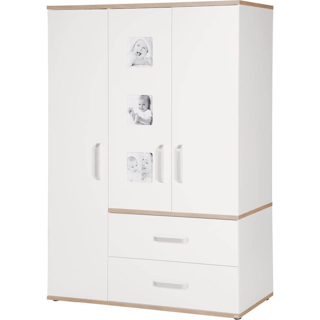 roba® Babyzimmer-Komplettset »Pia«, (Set, 3 St.), breit; mit Kinderbett, Schrank und Wickelkommode