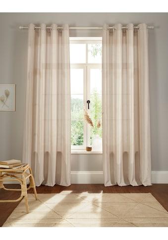Home affaire Vorhang »Leticia«, halbtransparent, Seiden Optik, leicht, monochrom kaufen