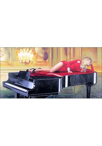 my home Bild mit Rahmen »PIERRE BENSON / Piano Lady«, (1 St.) kaufen