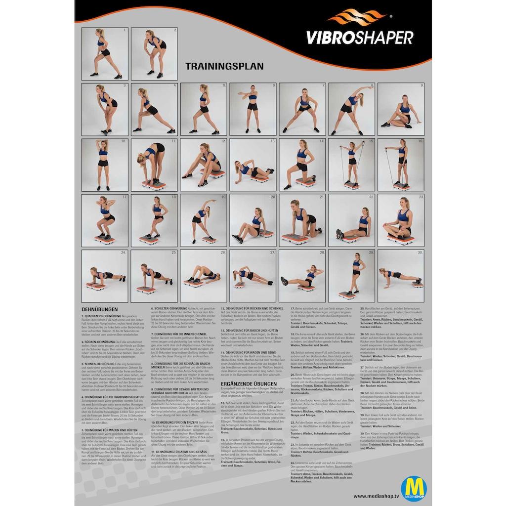 VibroShaper™ Vibrationsplatte »Vibroshaper - Power Edition«, 200 W, 3 Intensitätsstufen, (Set), zusätzlich mit 2 stärkeren Trainingsbändern