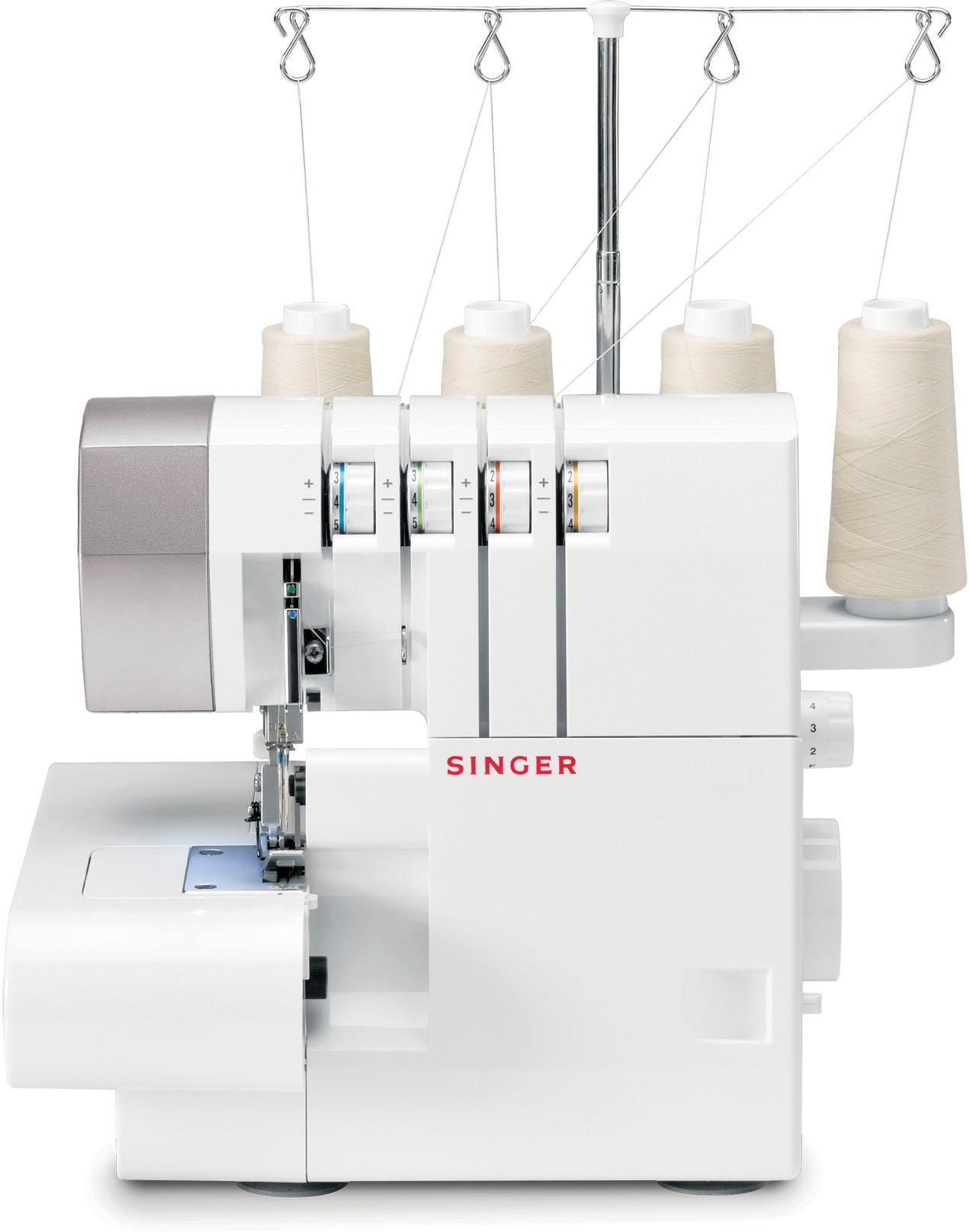Singer Overlock-Nähmaschine OVERLOCK 14SH754, 6 Nähprogramme | Flur & Diele > Haushaltsgeräte > Strick und Nähmaschinen | Weiß | SINGER