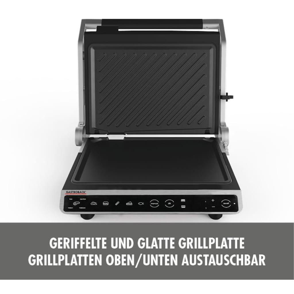 Gastroback Kontaktgrill »42542 Design BBQ Advanced Smart«, 2000 W