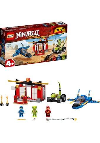 """LEGO® Konstruktionsspielsteine """"Kräftemessen mit dem Donner - Jet (71703), LEGO® NINJAGO®"""", Kunststoff, (165 - tlg.) kaufen"""