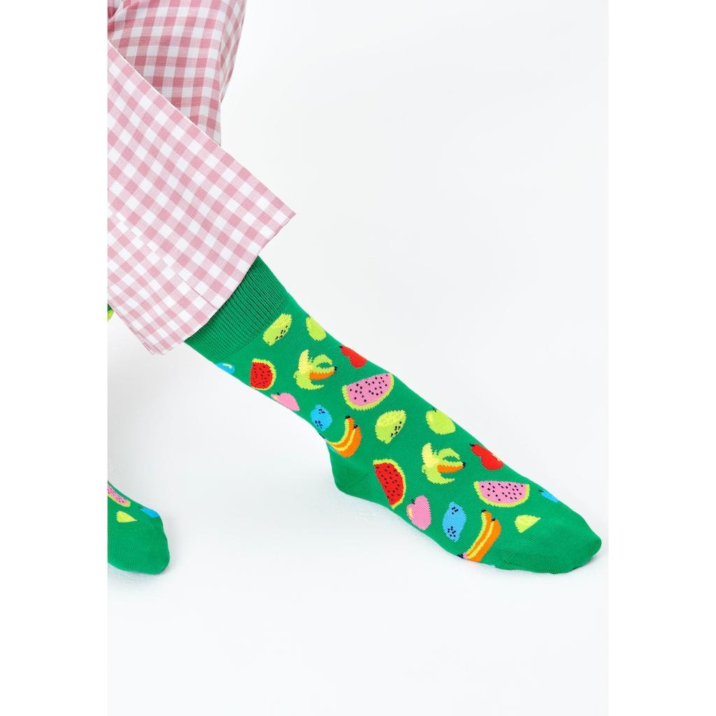 Happy Socks Socken »Fruit«, (Box, 4 Paar), mit Früchten in Geschenkbox