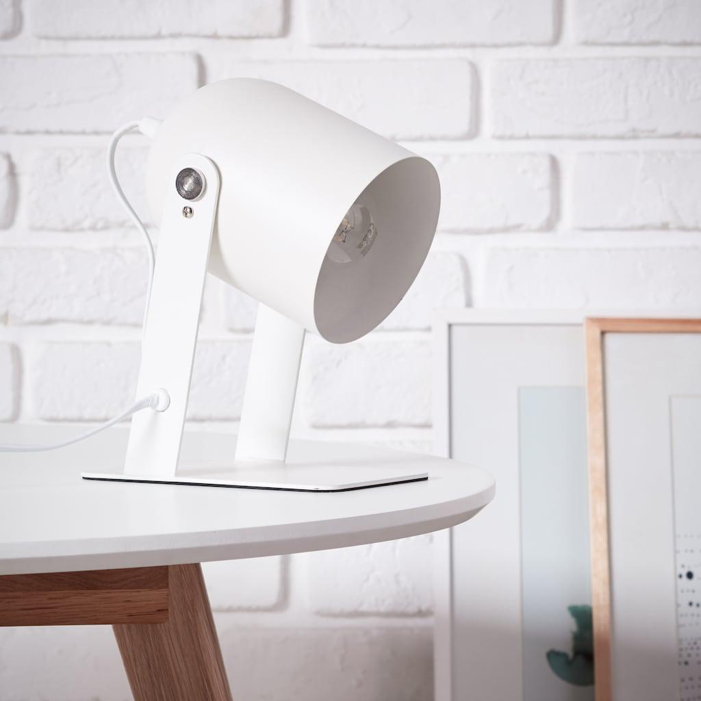 Brilliant Leuchten Yan Tischleuchte 29cm weiß