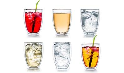 Creano Gläser-Set, (Set, 6 tlg.), Borosilikatglas, 400 ml kaufen