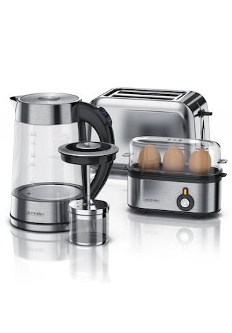 Arendo Frühstücks - Set 3 - teilig in Edelstahl Optik »Wasserkocher, Toaster und Eierkocher« kaufen