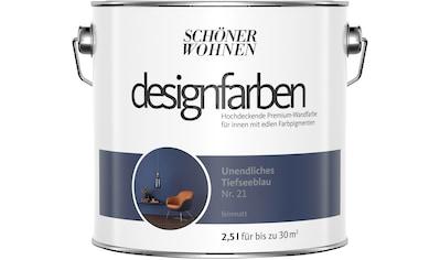 SCHÖNER WOHNEN-Kollektion Wandfarbe »Designfarben«, unendliches Tiefseeblau Nr. 21,... kaufen