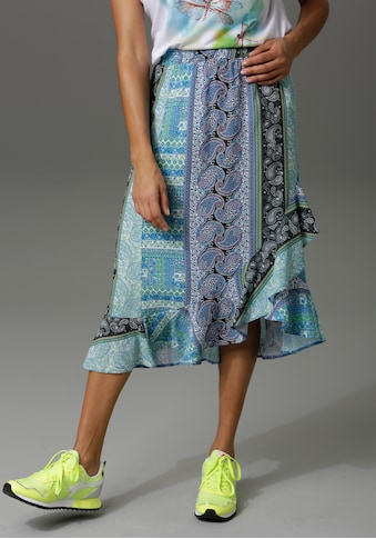 Aniston CASUAL Sommerrock, mit Volant in Wickel-Optik kaufen