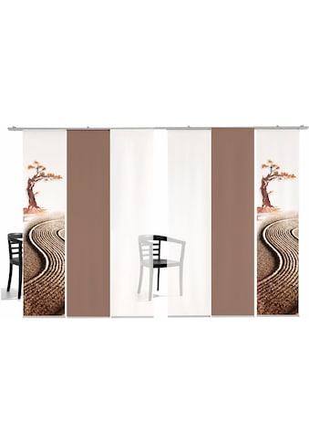 Schiebegardine, »Bonsai farbig«, emotion textiles, Klettband 6 Stück kaufen