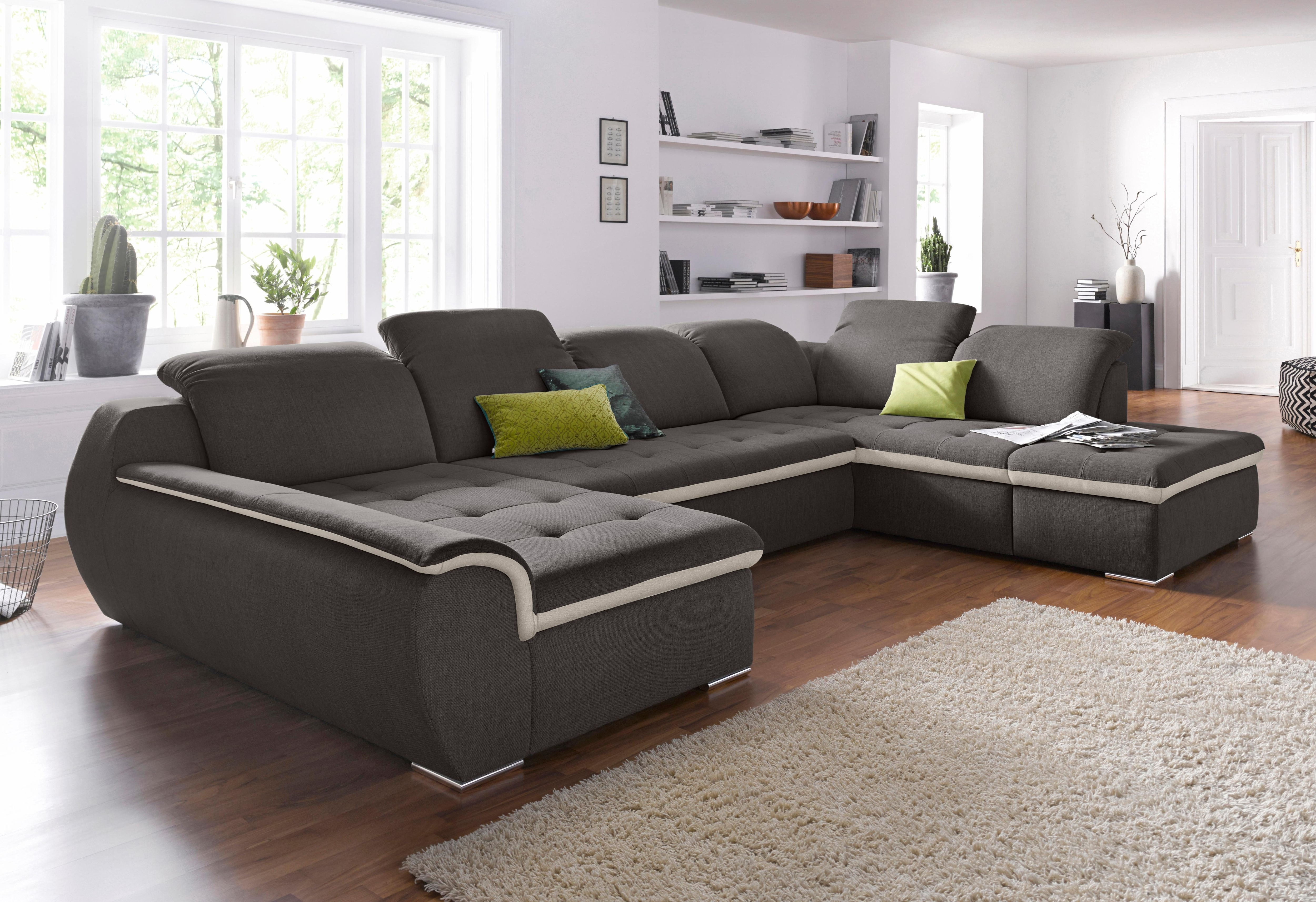 RAUM.ID Wohnlandschaft | Wohnzimmer > Sofas & Couches > Wohnlandschaften | Braun | Holzwerkstoff | RAUM.ID