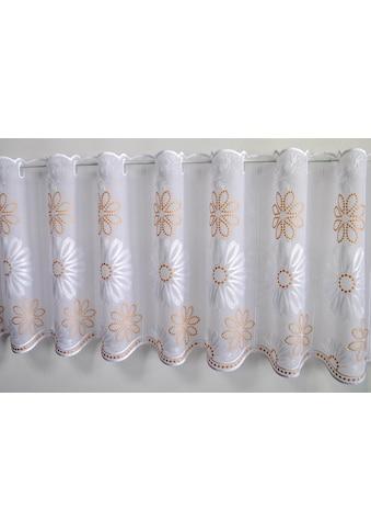 Stickereien Plauen Scheibengardine »Lilienzeit« kaufen