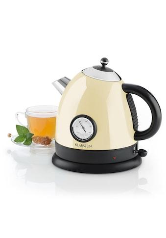 Klarstein Retro-Wasserkocher Teekessel 1,5l 2200W Thermometer kabellos kaufen