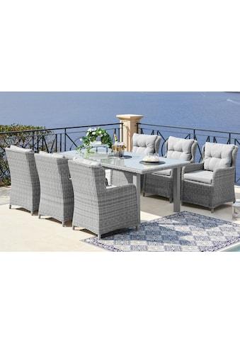 KONIFERA Gartenmöbelset »Miami«, 19 - tlg., 6 Sessel, Tisch 170x90 cm, Polyrattan kaufen