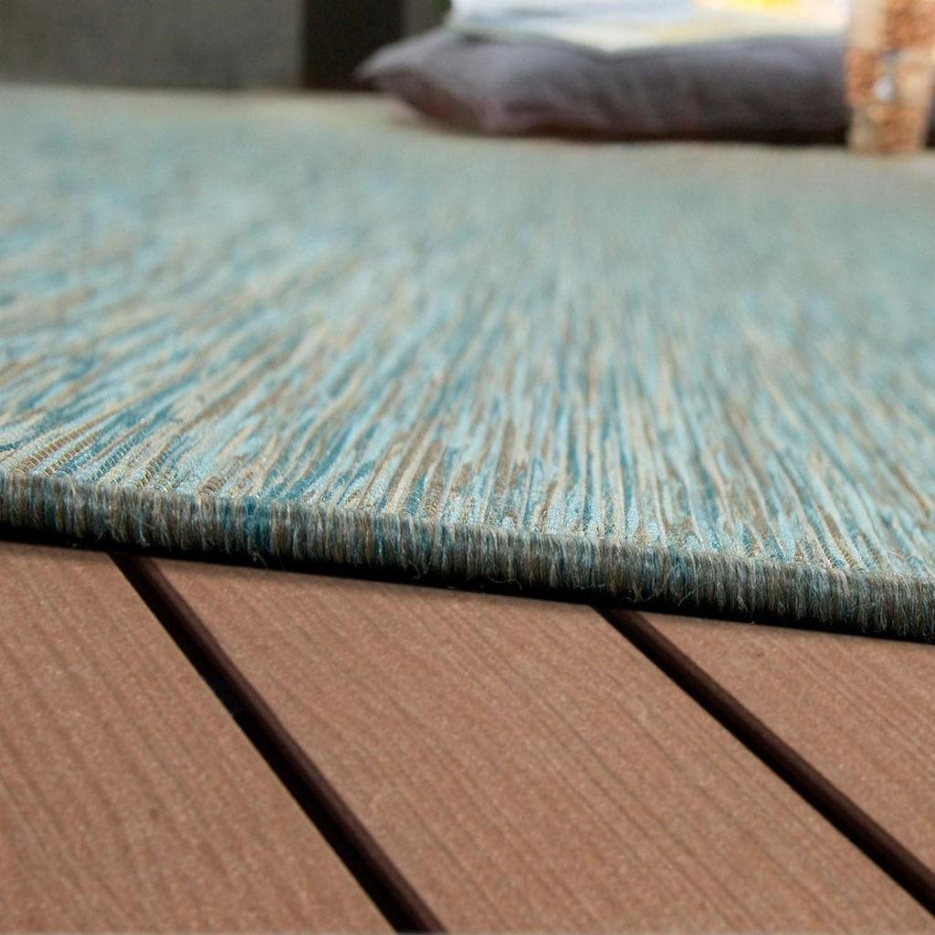 Paco Home Teppich »Sunset 620«, rechteckig, 5 mm Höhe, In- und Outdoor geeignet, Wohnzimmer