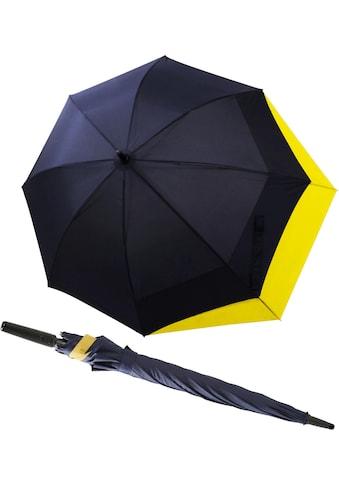 doppler® Stockregenschirm »Fiber Long AC Move navy/gelb« kaufen