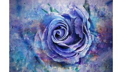 CONSALNET Papiertapete »Blaue Vintage Blume«, in verschiedenen Größen kaufen