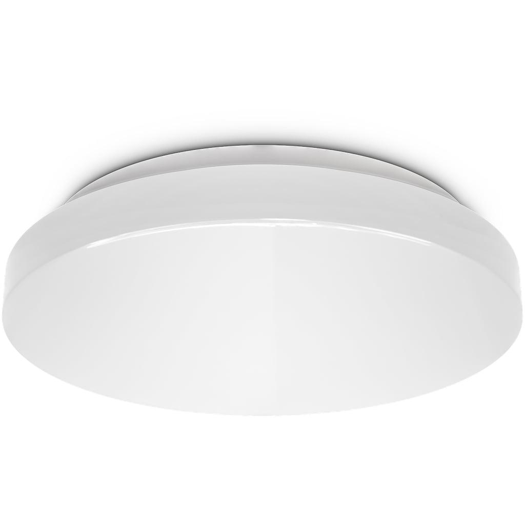 B.K.Licht LED Deckenleuchte, LED-Modul, Neutralweiß, LED Bad Deckenlampe rund Badezimmer-Lampe flach IP44 Schlafzimmer Küche Flur