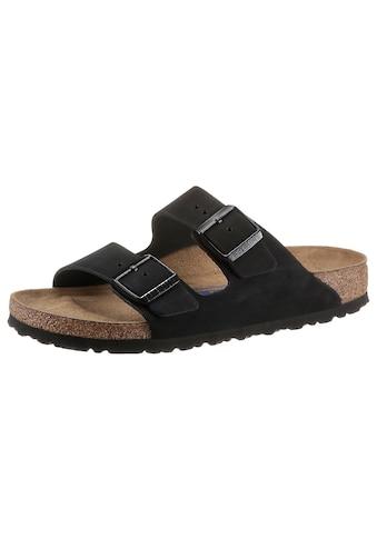 Birkenstock Pantolette »Arizona«, aus Nubukleder, schmale Schuhweite kaufen