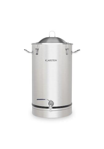 Klarstein Maischfest Fermentierkessel 30 Liter Gärröhrchen Edelstahl »Fermenter 30« kaufen