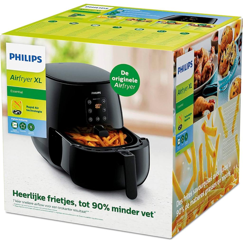 Philips Heissluftfritteuse »HD9262/90 Airfryer XL«, 1900 W, Fassungsvermögen 1,2kg, digitales Display, inkl. Snackdeckel im Wert von UVP €20,99