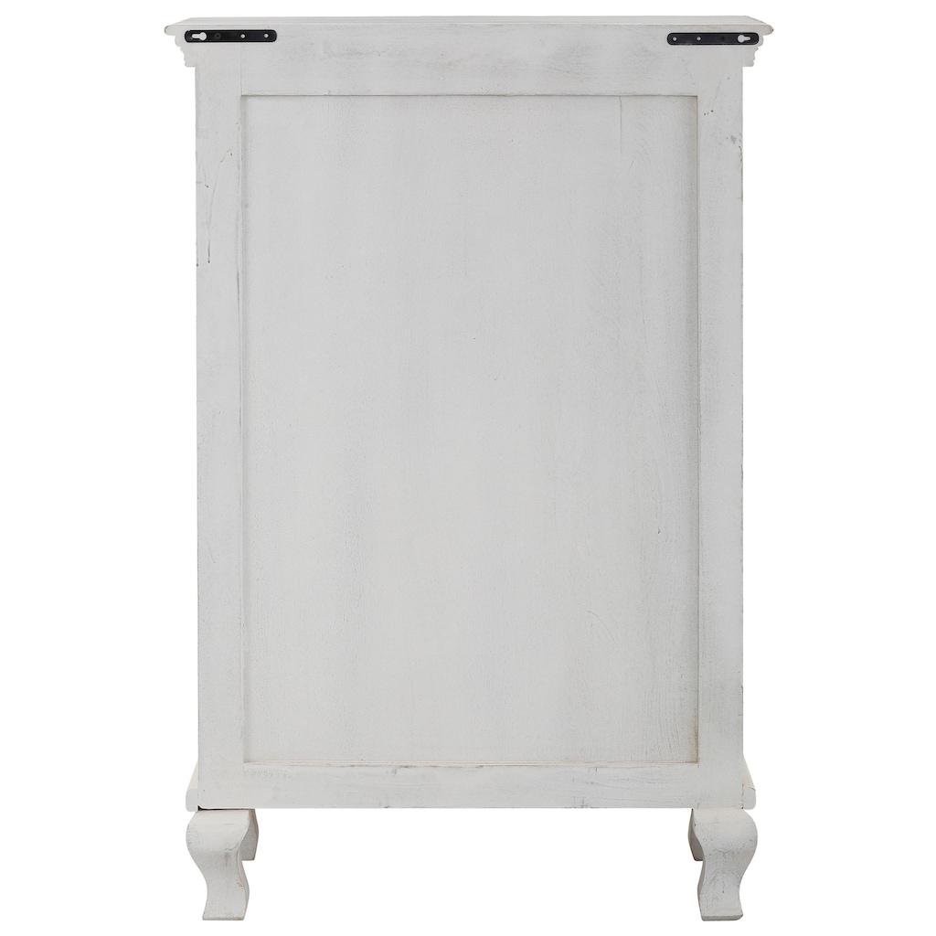 Home affaire Kleiderschrank »Rajat«, aus schönem massivem Mangoholz, mit dekorativen Fräsungen, Breite 80 cm