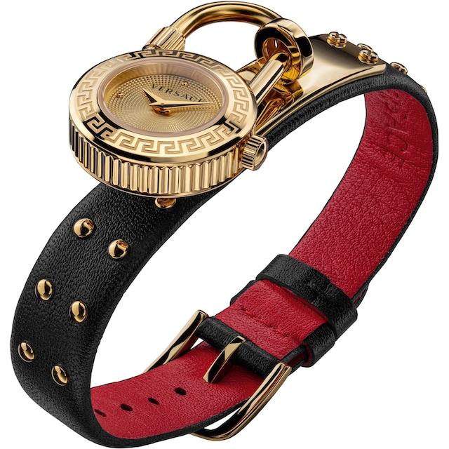 Versace Schweizer Uhr »Medusa Lock Icon, VEDW00119« (Set, 3 tlg., mit zusätzlichem Lederband)