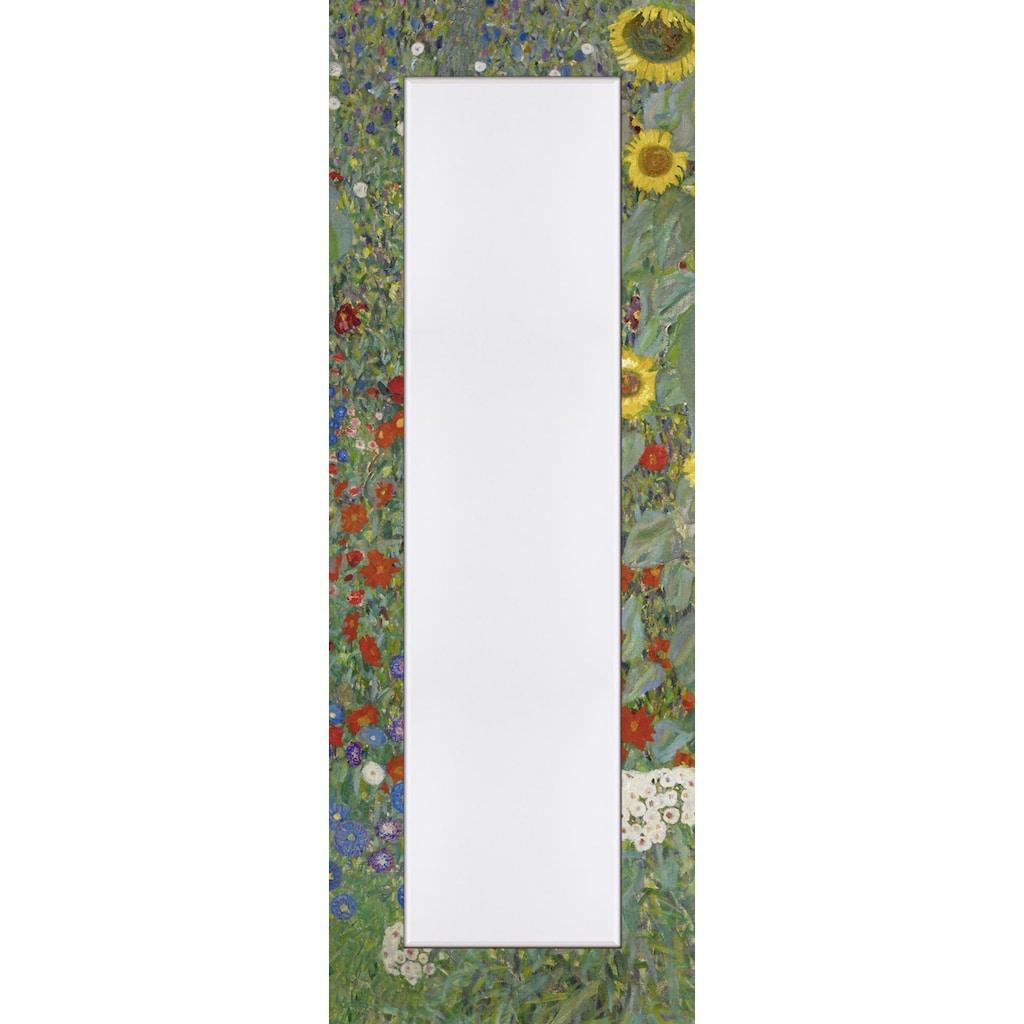 Home affaire Spiegel »Klimt, G.: Garten mit Sonnenblumen«, (1 St.)