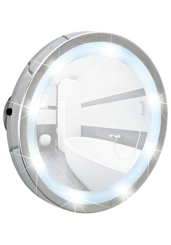 WENKO Kosmetikspiegel »Mosso«, LED Leuchtspiegel, mit 3 Saugnäpfen, 3 - fach Vergrößerung kaufen
