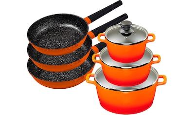 KING Topf-Set »Shine Orange«, Aluminiumguss, (Set, 9 tlg., 3 Pfannen, 3 Töpfe, 3... kaufen