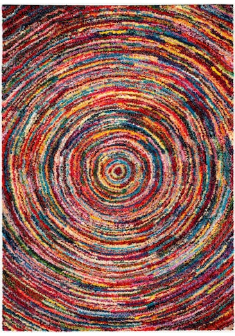 Hochflor - Teppich, »Sixteen Round«, OCI DIE TEPPICHMARKE, rechteckig, Höhe 25 mm, maschinell gewebt kaufen