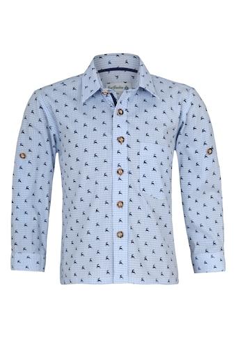 Isar-Trachten Trachtenhemd, Kinder, mit Knöpfen in Hornoptik kaufen