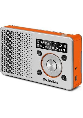 TechniSat Digitalradio (DAB+) »DIGITRADIO 1 silber/orange«, ( Digitalradio (DAB+) 1... kaufen