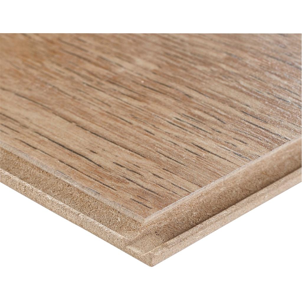 BODENMEISTER Spar-Set: Laminat »Dielenoptik Eiche natur rustikal«, 1376 x 193 mm, Stärke: 7mm