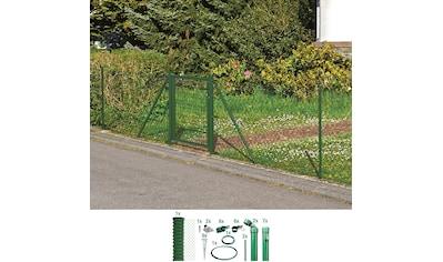 GAH Alberts Maschendrahtzaun, 175 cm hoch, 15 m, grün beschichtet, mit Bodenhülsen kaufen