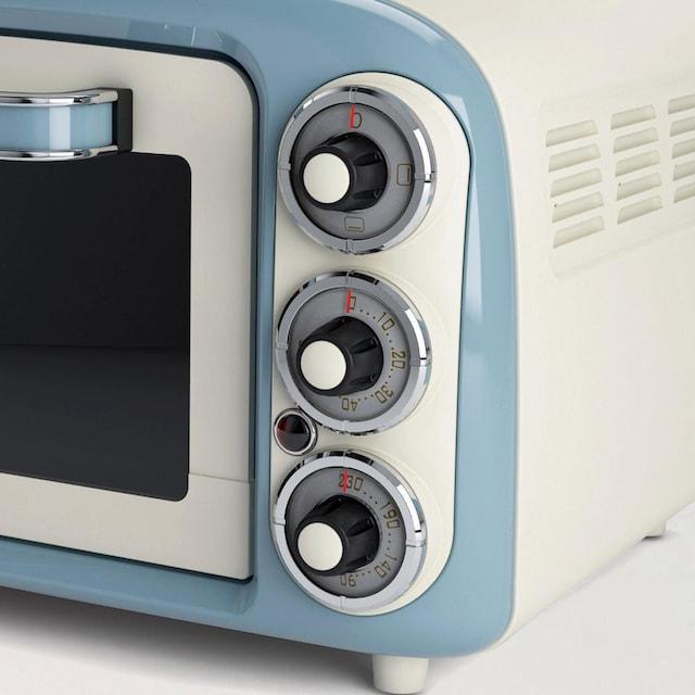Ariete, Minibackofen »Vintage 979 blau«, Oberhitze Unterhitze