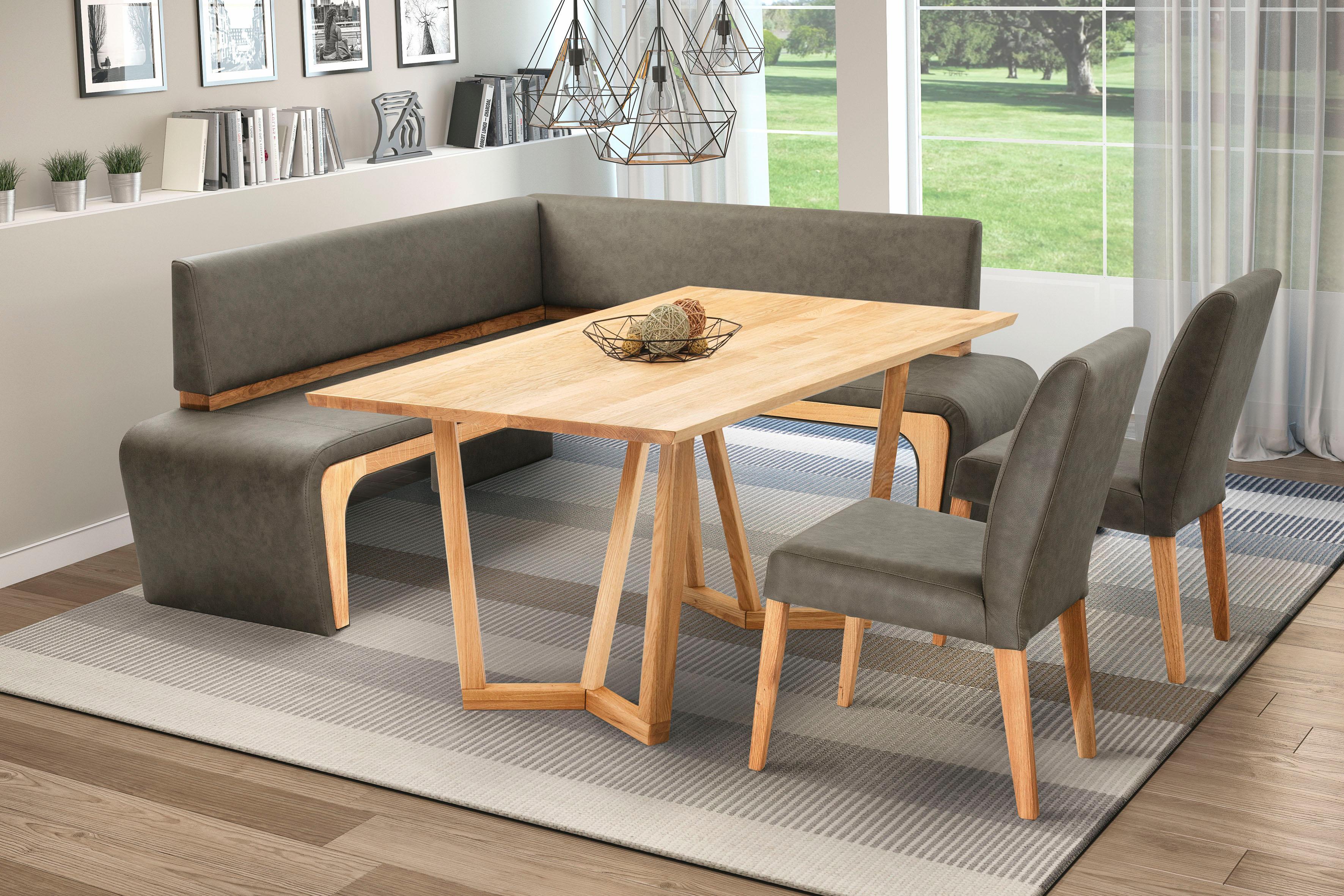 Eckbank »Agram« | Küche und Esszimmer > Sitzbänke > Eckbänke | Braun | Holzwerkstoff - Kunstleder - Holz | QUELLE