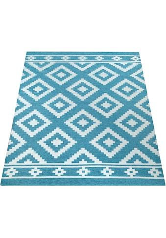 Paco Home Teppich »Mariba 095«, rechteckig, 9 mm Höhe, Kurzflor mit Skandinavischem Rauten Design, Wohnzimmer kaufen