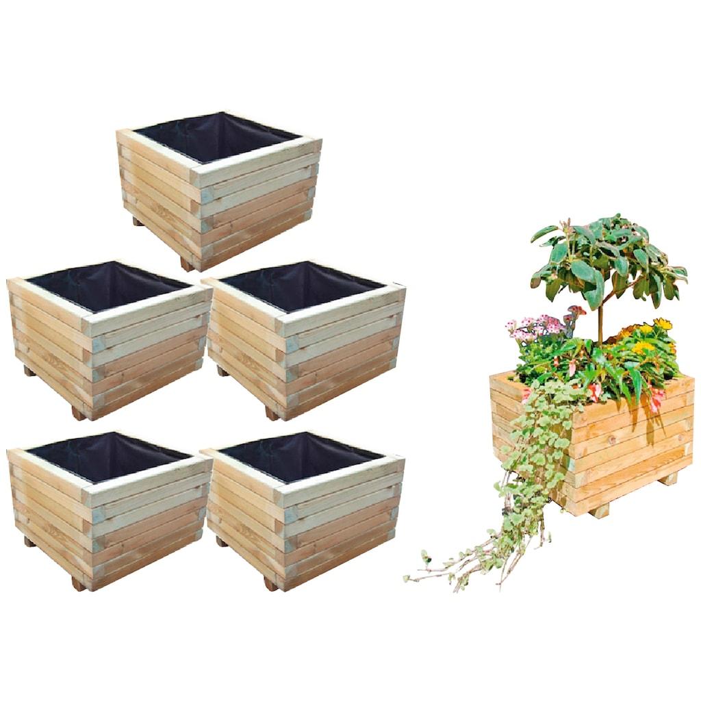 T&J Blumenkasten »Mobile 3«, 5er Set, BxTxH: 50x50x38 cm
