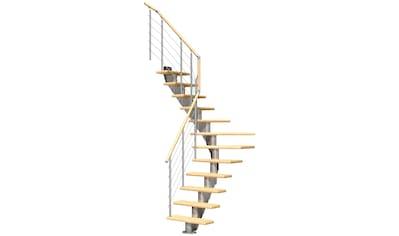 DOLLE Mittelholmtreppe »Frankfurt Birke 65«, bis 301 cm, Edelstahlgeländer, versch. Ausführungen kaufen