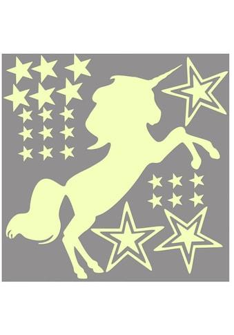 Wall - Art Wandtattoo »Leuchtsticker Einhorn Pferde« (1 Stück) kaufen