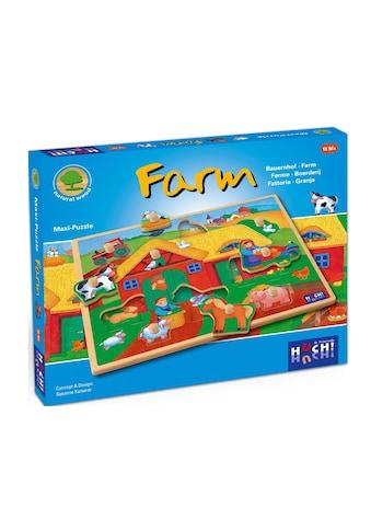 Huch! Puzzle »Wooden Line Farm«, 9 Maxi-Teile kaufen